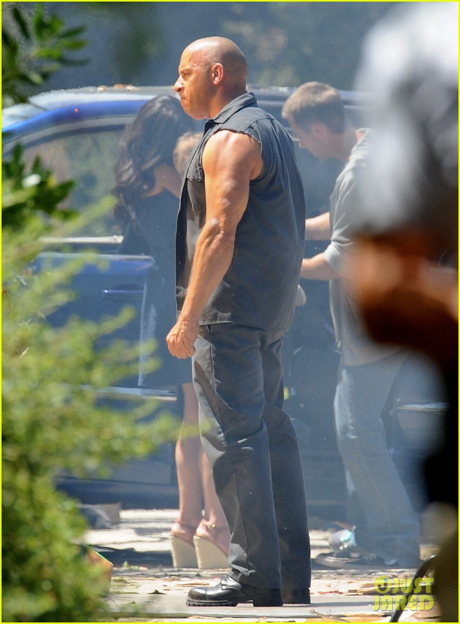 vin diesel does some fiery stunt work for fast furious 7 113128914