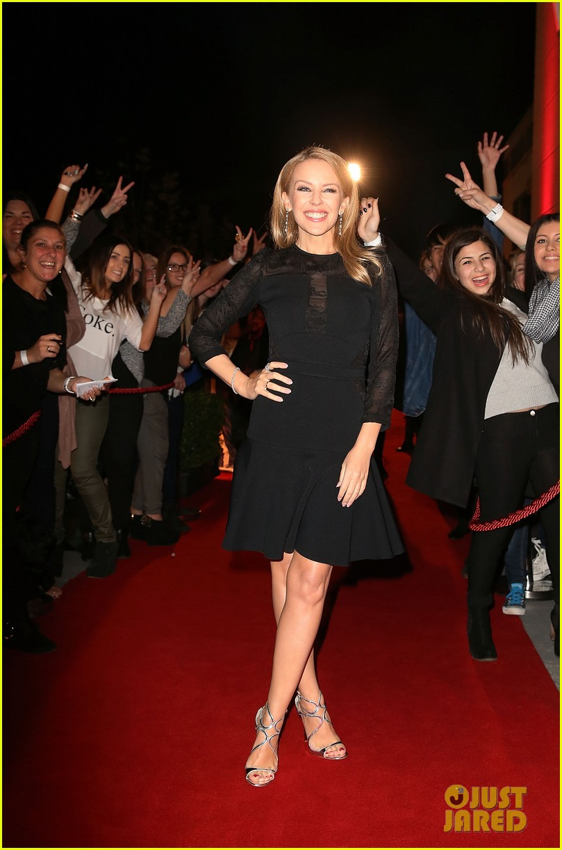 Kylie Minogue & Ricky Martin Arrive with Their Teams at 'The