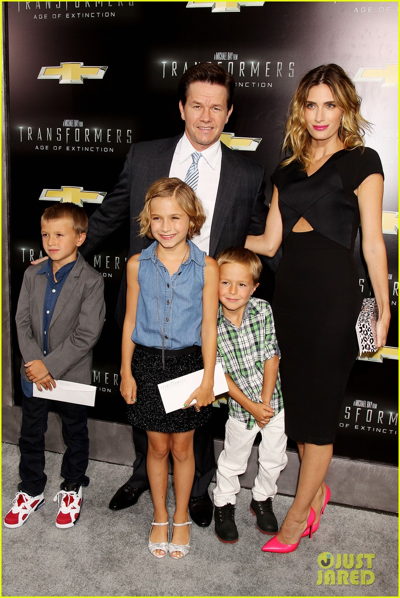 mark wahlberg brings the family to transformers nyc premiere 053143425