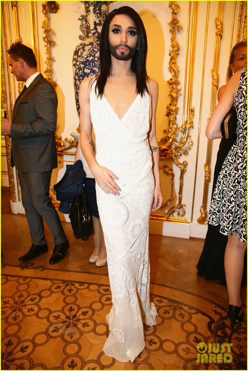 conchita wurst wears five glam looks over life ball weekend 013125634