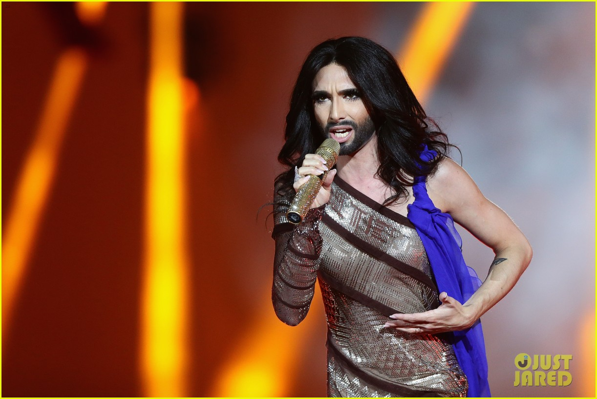 conchita wurst wears five glam looks over life ball weekend 023125635