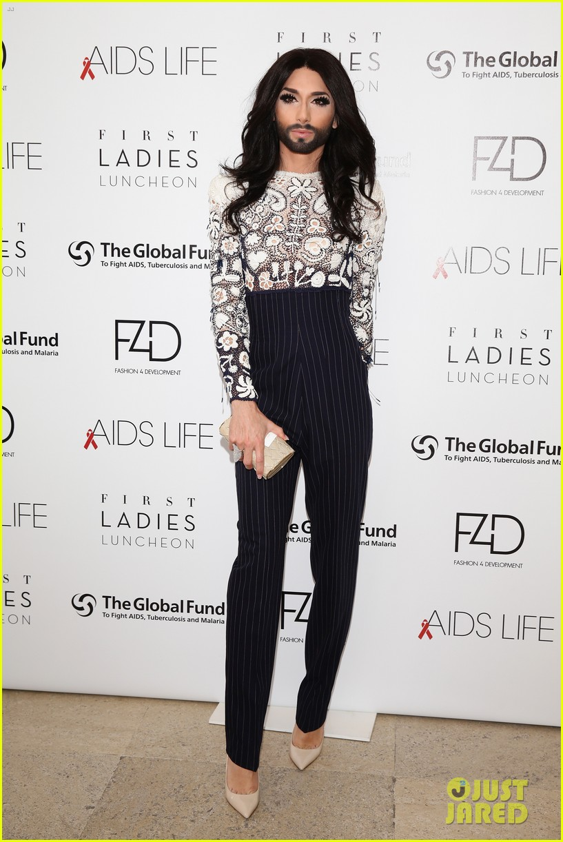 conchita wurst wears five glam looks over life ball weekend 033125636