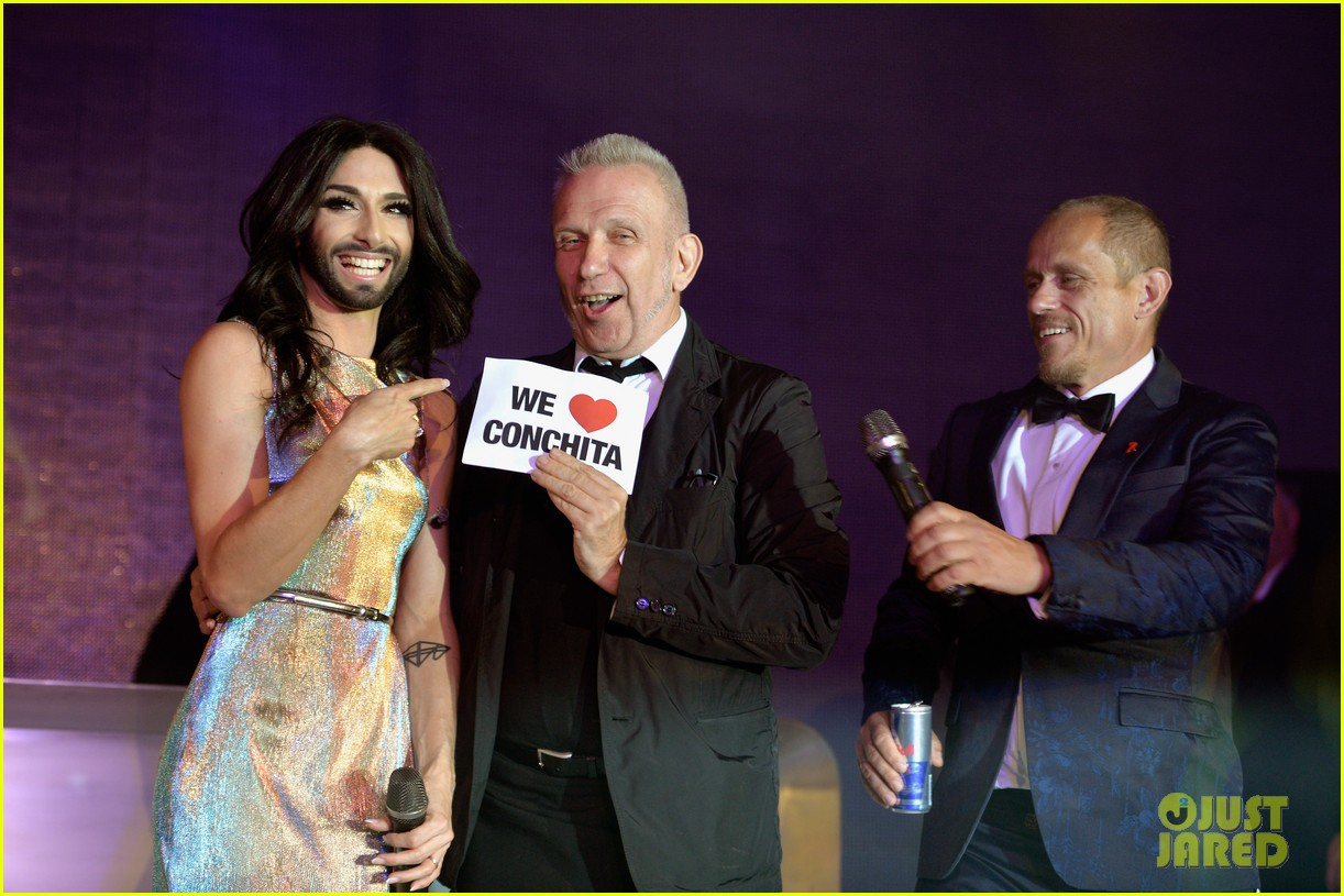 conchita wurst wears five glam looks over life ball weekend 043125637
