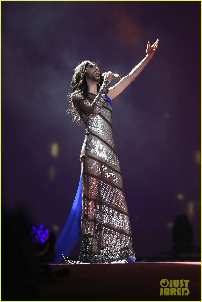 conchita wurst wears five glam looks over life ball weekend 063125639