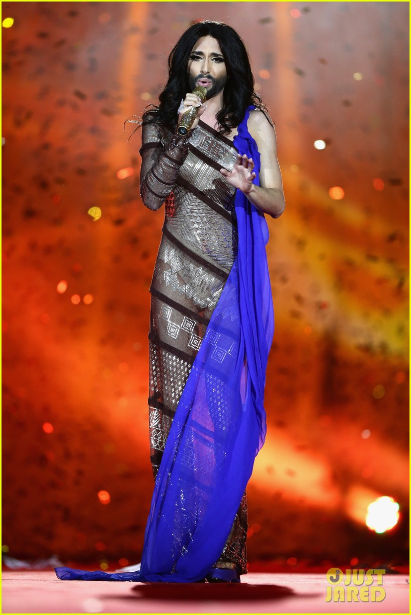 conchita wurst wears five glam looks over life ball weekend 073125640