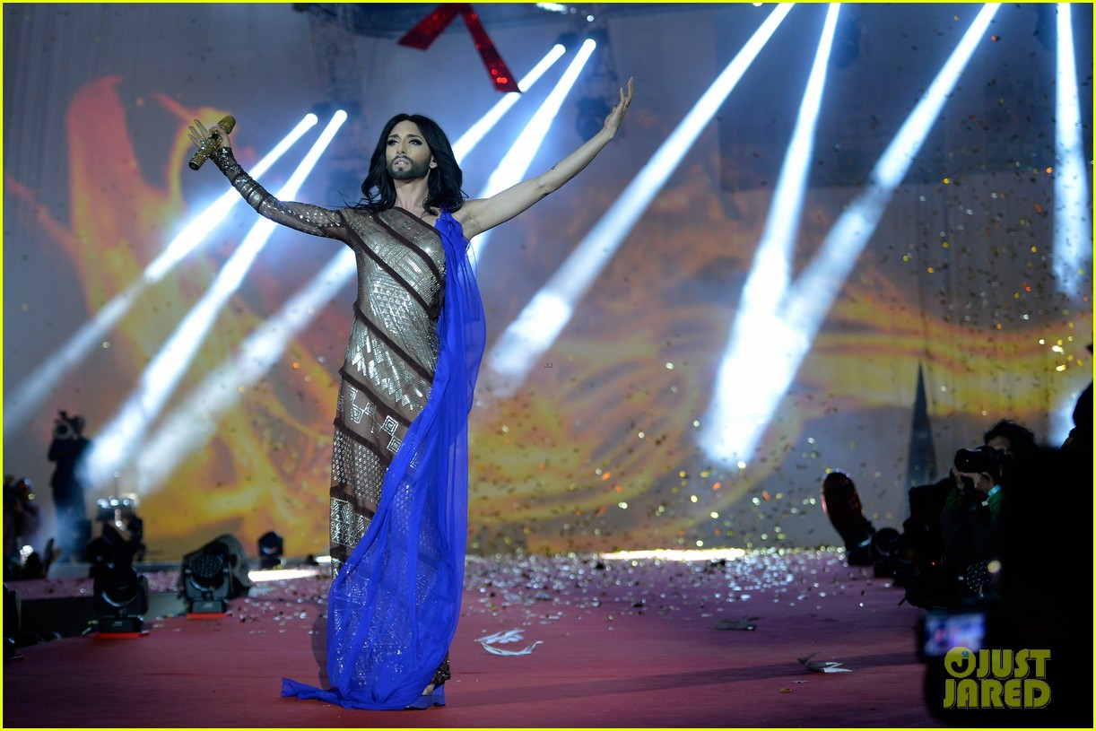 conchita wurst wears five glam looks over life ball weekend 083125641