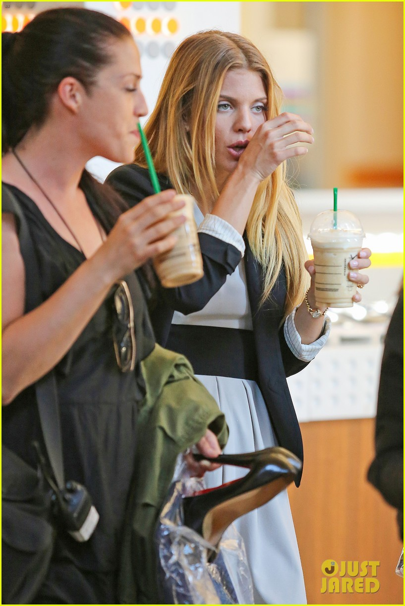 annalynne mccord starbucks run photographs filming 103152679