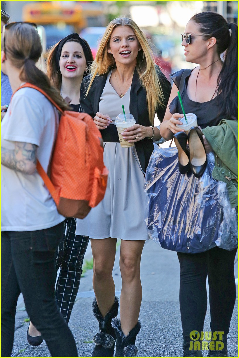 annalynne mccord starbucks run photographs filming 143152683