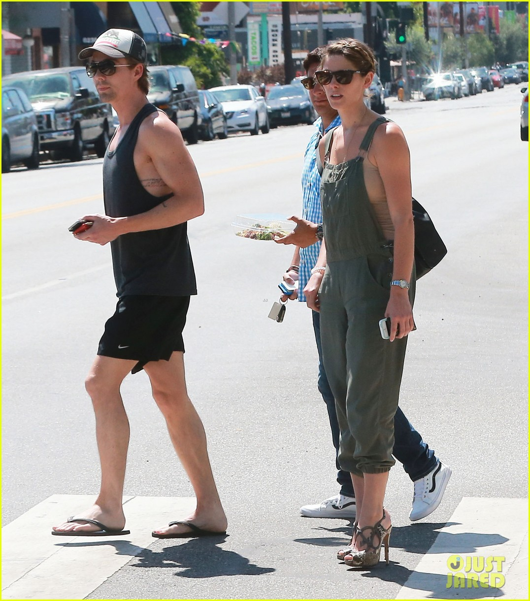 ashley greene wears overalls lunch 053151315