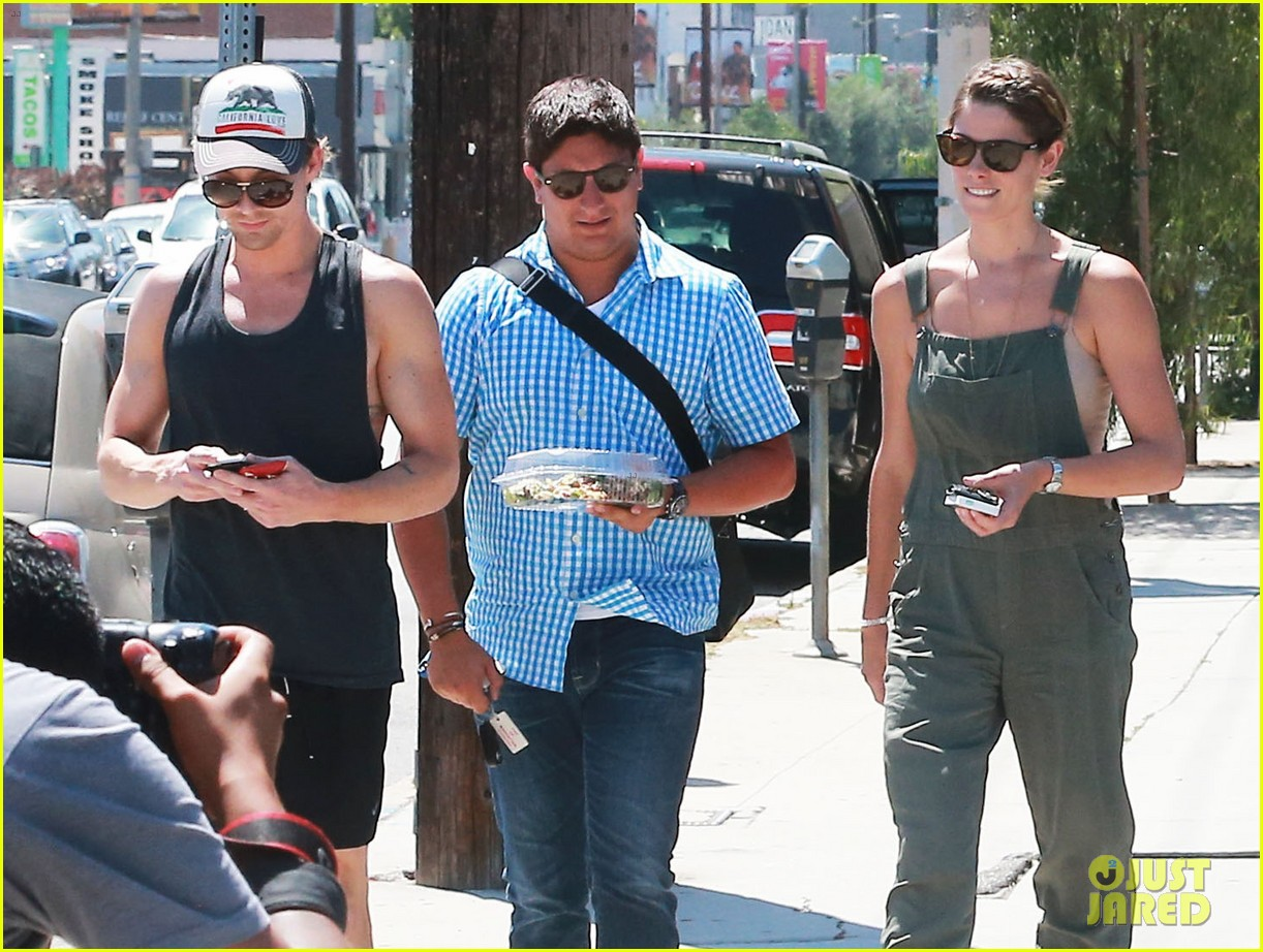 ashley greene wears overalls lunch 063151316