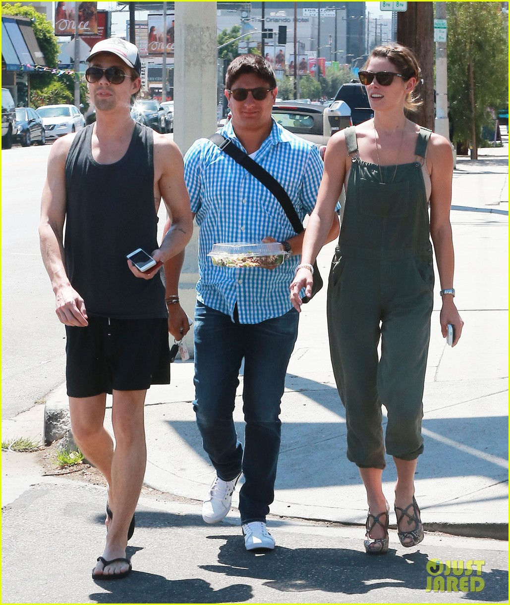 ashley greene wears overalls lunch 083151318