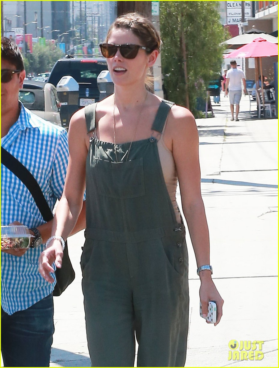 ashley greene wears overalls lunch 093151319