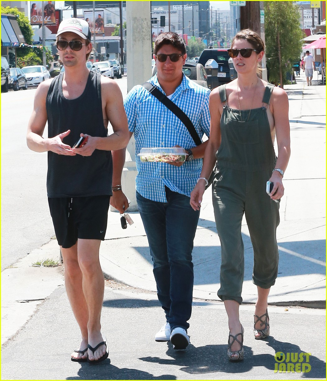 ashley greene wears overalls lunch 103151320