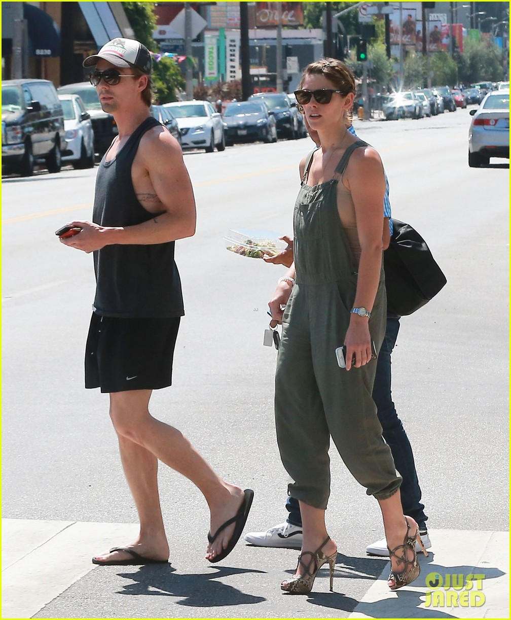 ashley greene wears overalls lunch 123151322
