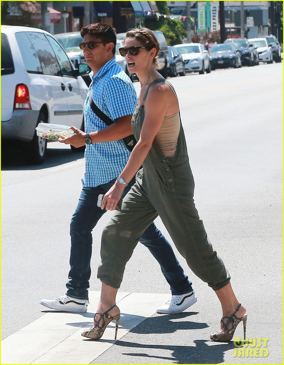ashley greene wears overalls lunch 14