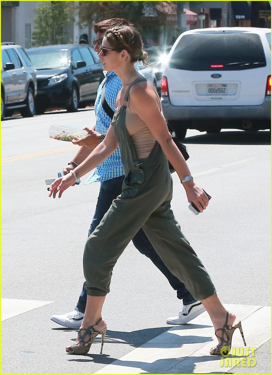 ashley greene wears overalls lunch 153151325