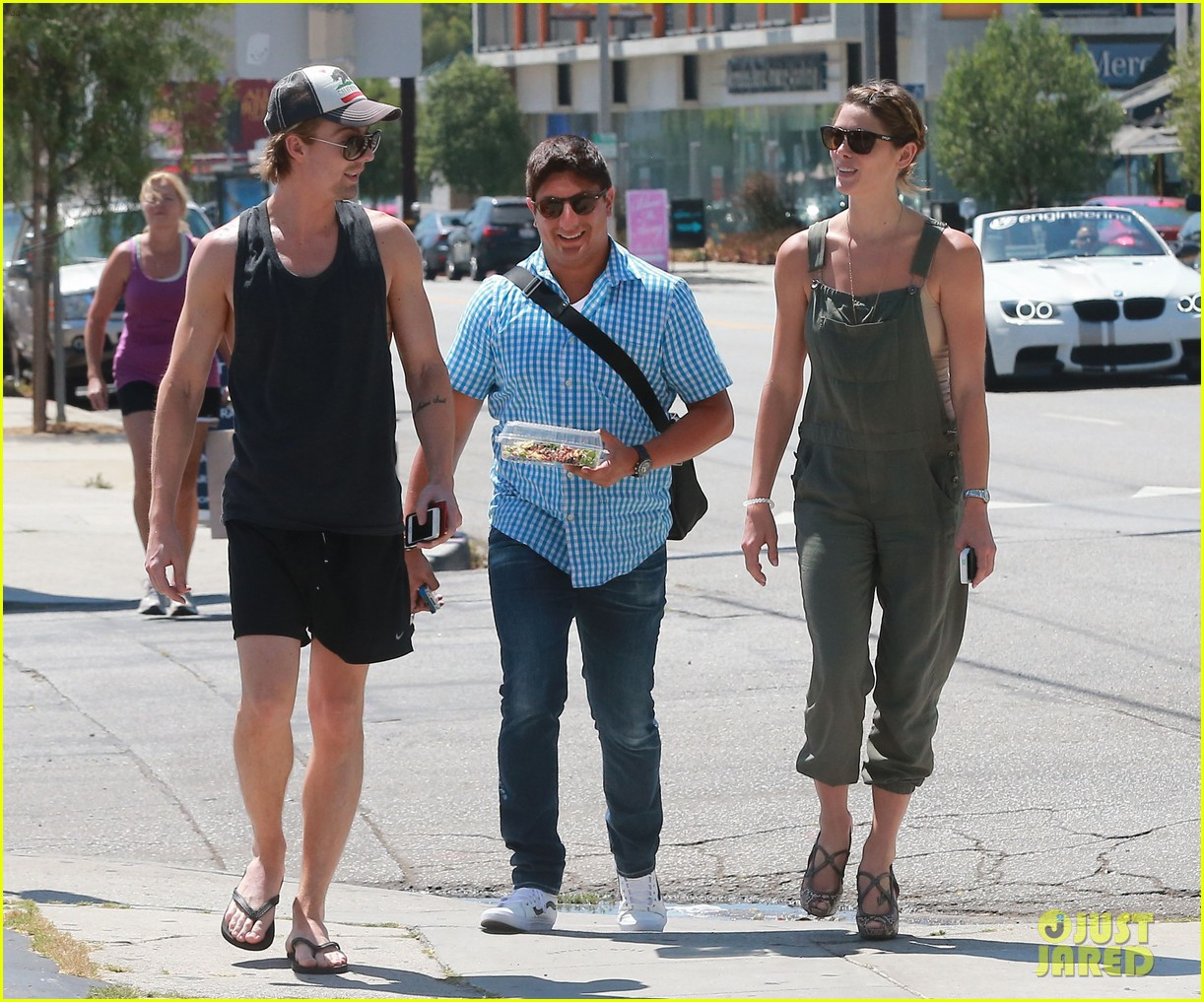 ashley greene wears overalls lunch 163151326
