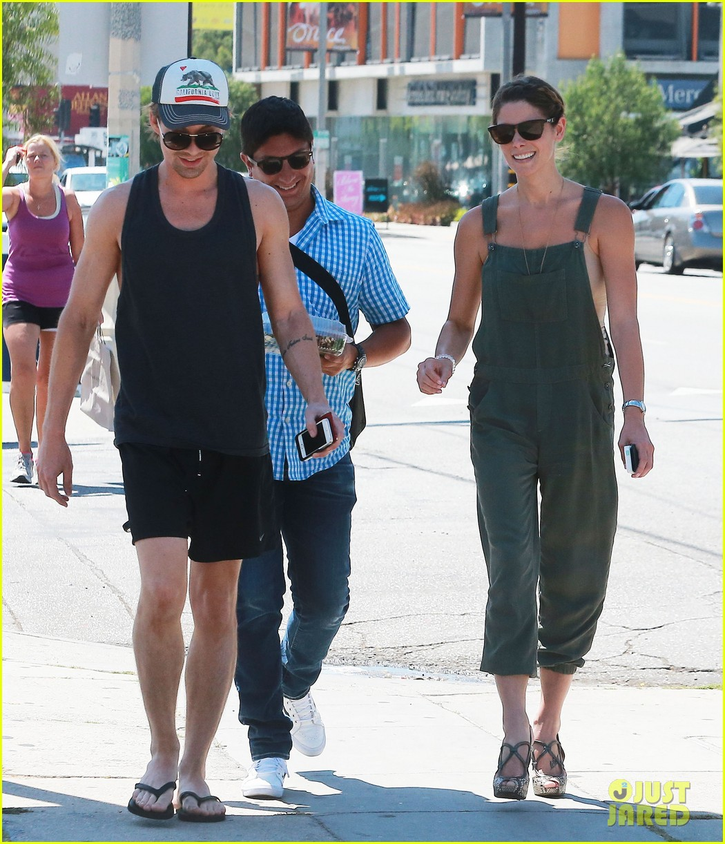ashley greene wears overalls lunch 173151327