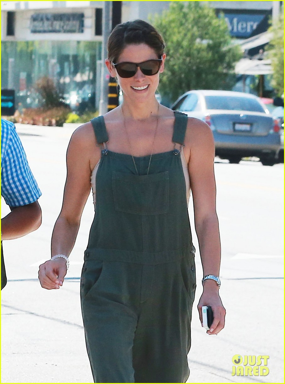 ashley greene wears overalls lunch 193151329