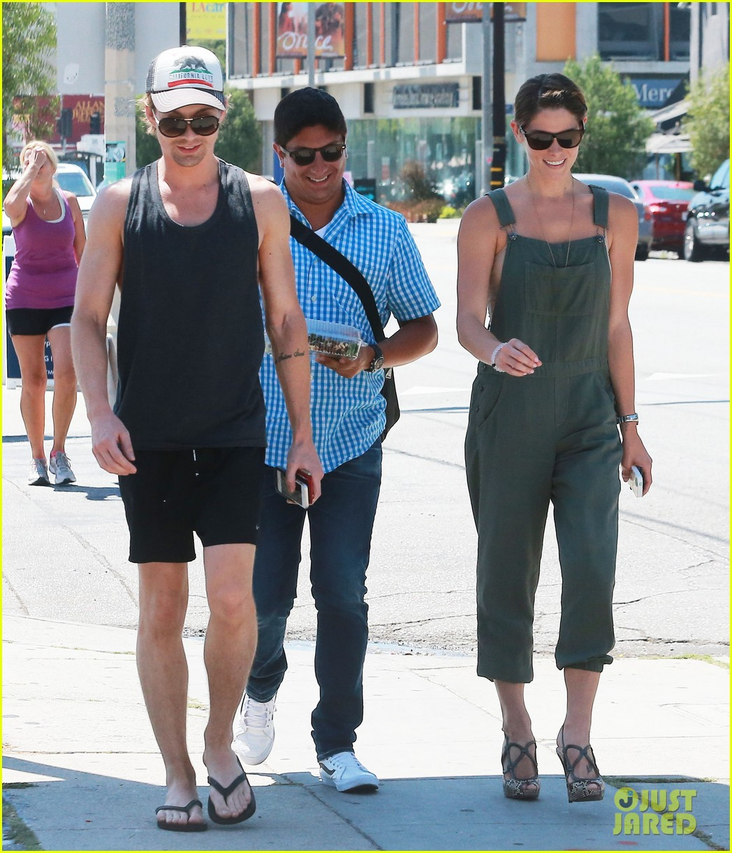 ashley greene wears overalls lunch 203151330