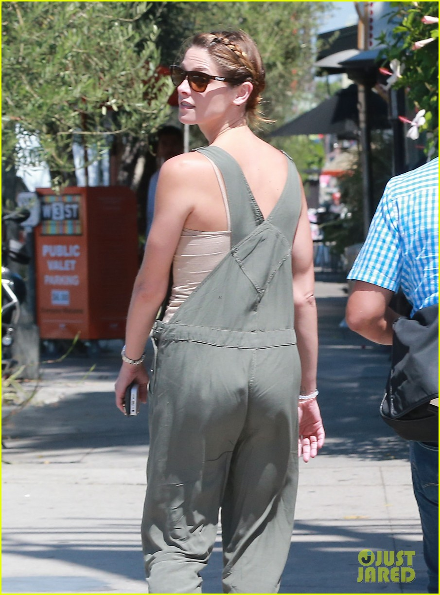 ashley greene wears overalls lunch 243151334
