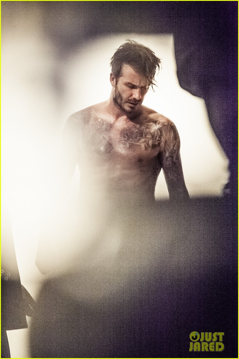david beckhams hot shirtless body is on display for new hm bodywear 08