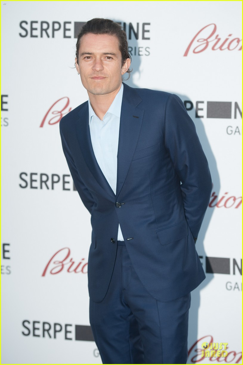 orlando bloom pharrell williams serpentine gallery party 093147840
