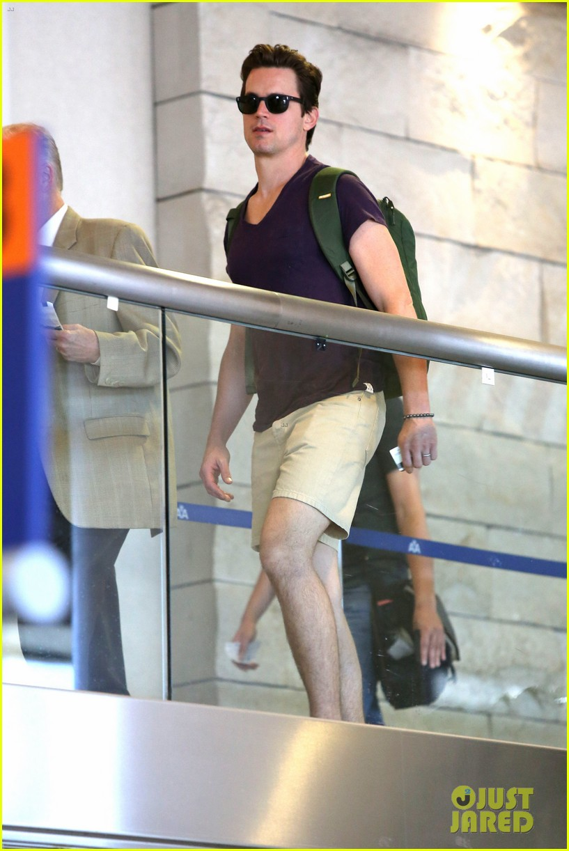 matt bomer wears short shorts at the airport 033150547
