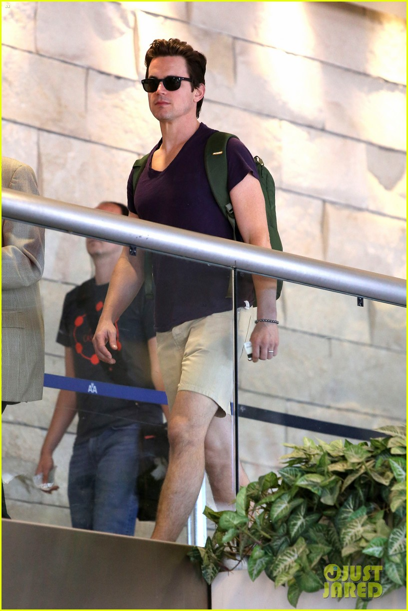 matt bomer wears short shorts at the airport 053150549