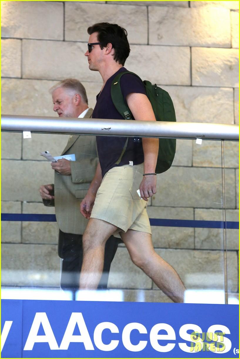 matt bomer wears short shorts at the airport 103150554