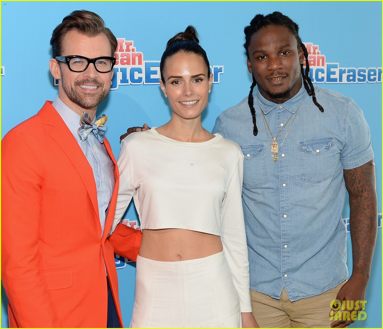 jordana brewster supports brad goreski at the mr clean summer fashion party 06