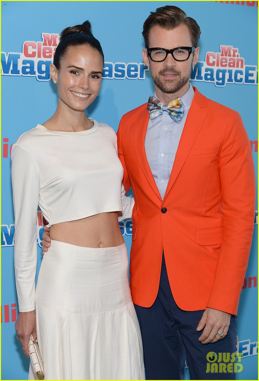 jordana brewster supports brad goreski at the mr clean summer fashion party 093148246