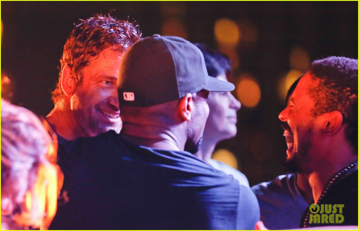gerard butler taylor kitsch hang out in brazil 143151754