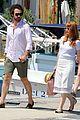 jessica chastain gian luca passi de preposulo boating in ischia 08