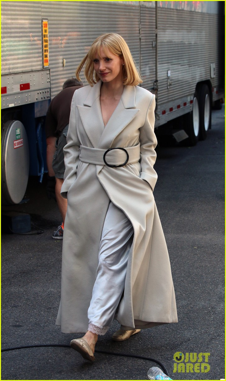 jessica chastain gets into character for a most violent year 063152476