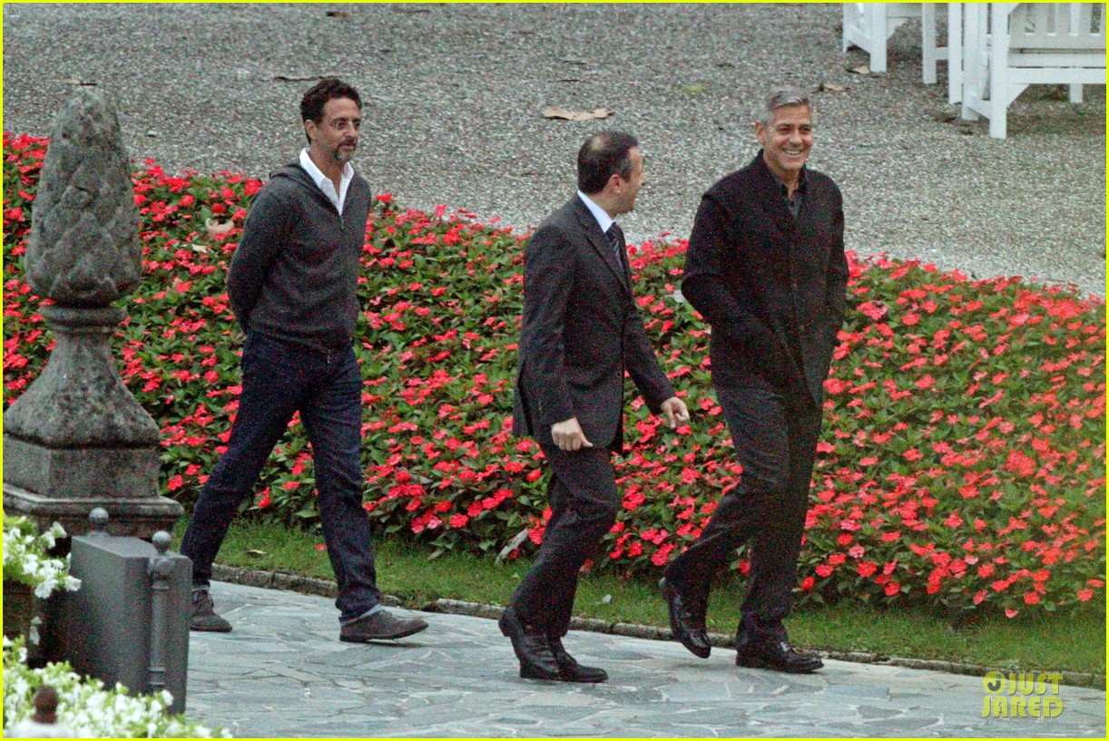 george clooney grant heslov meet up in italy 11