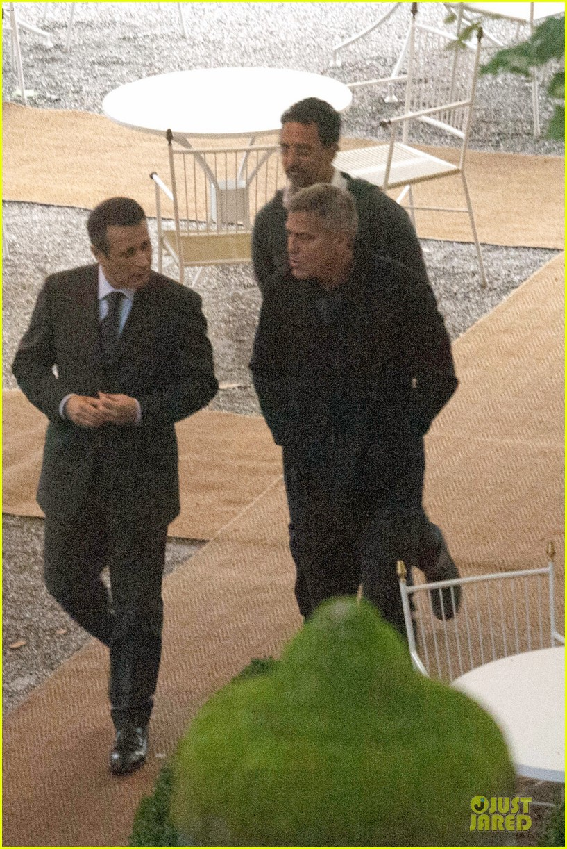 george clooney grant heslov meet up in italy 15