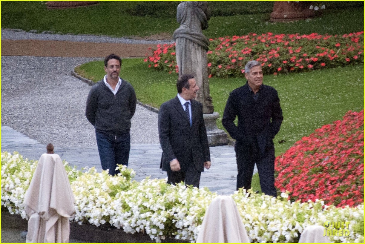 george clooney grant heslov meet up in italy 183152065