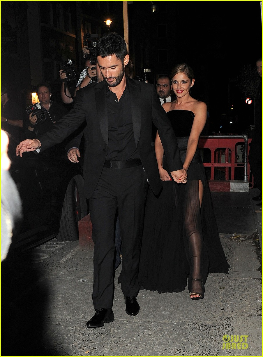 cheryl cole husband jean bernard match in black for wedding party 013161411