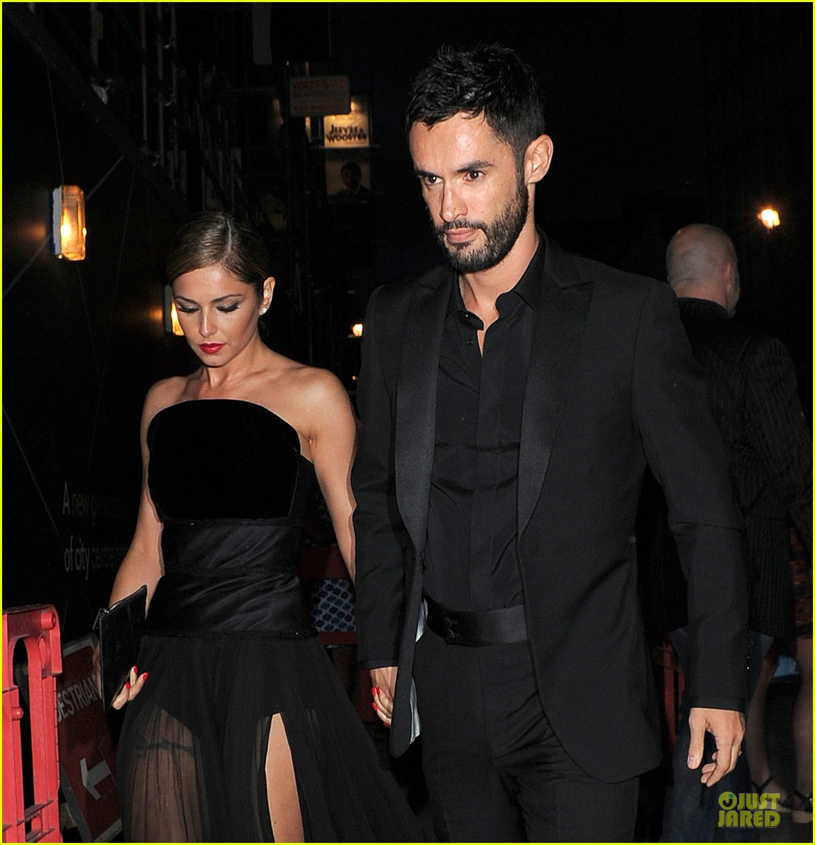 cheryl cole husband jean bernard match in black for wedding party 023161412