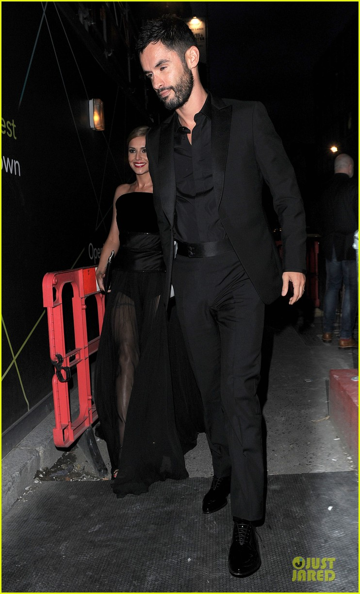 cheryl cole husband jean bernard match in black for wedding party 053161415