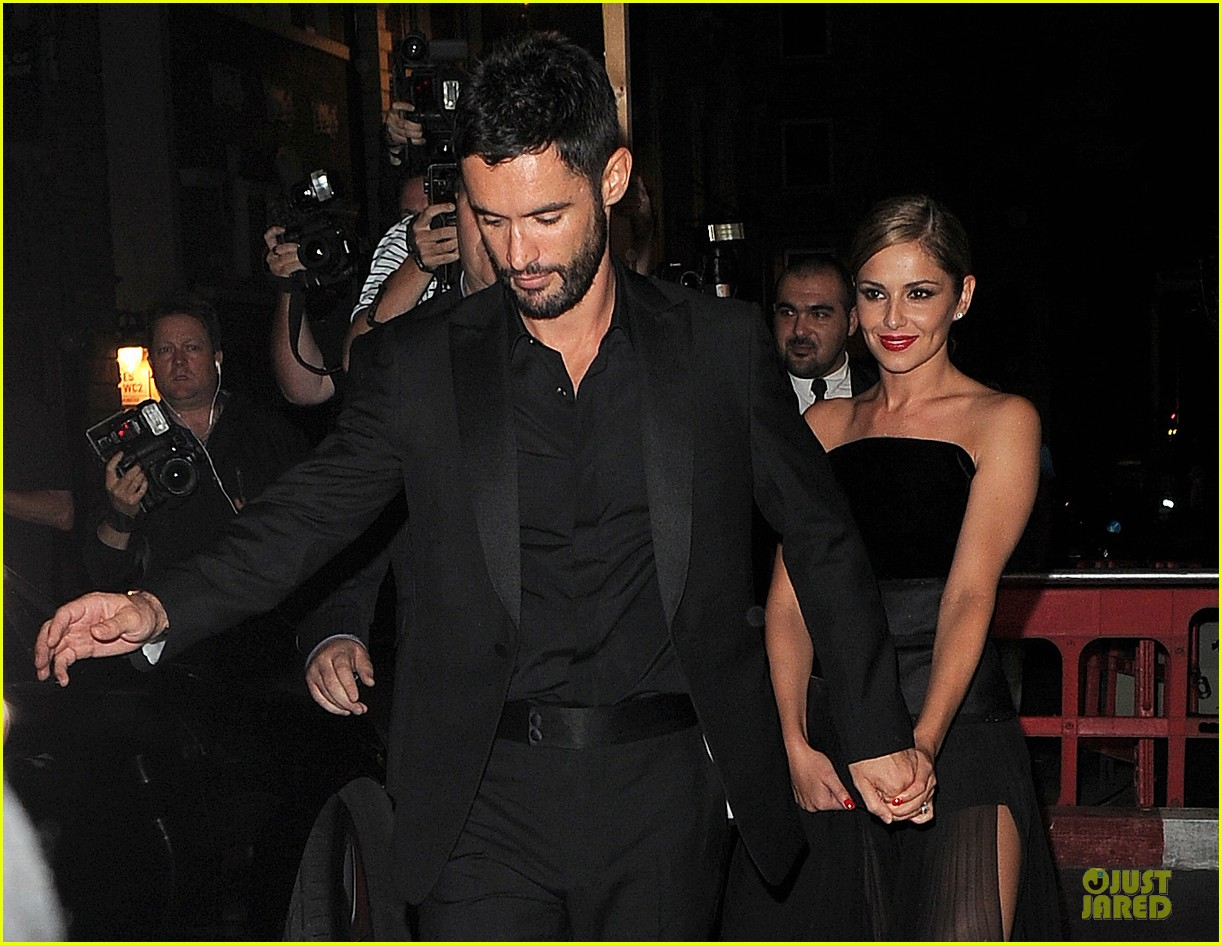 Cheryl cole husband jean bernard match in black for wedding party