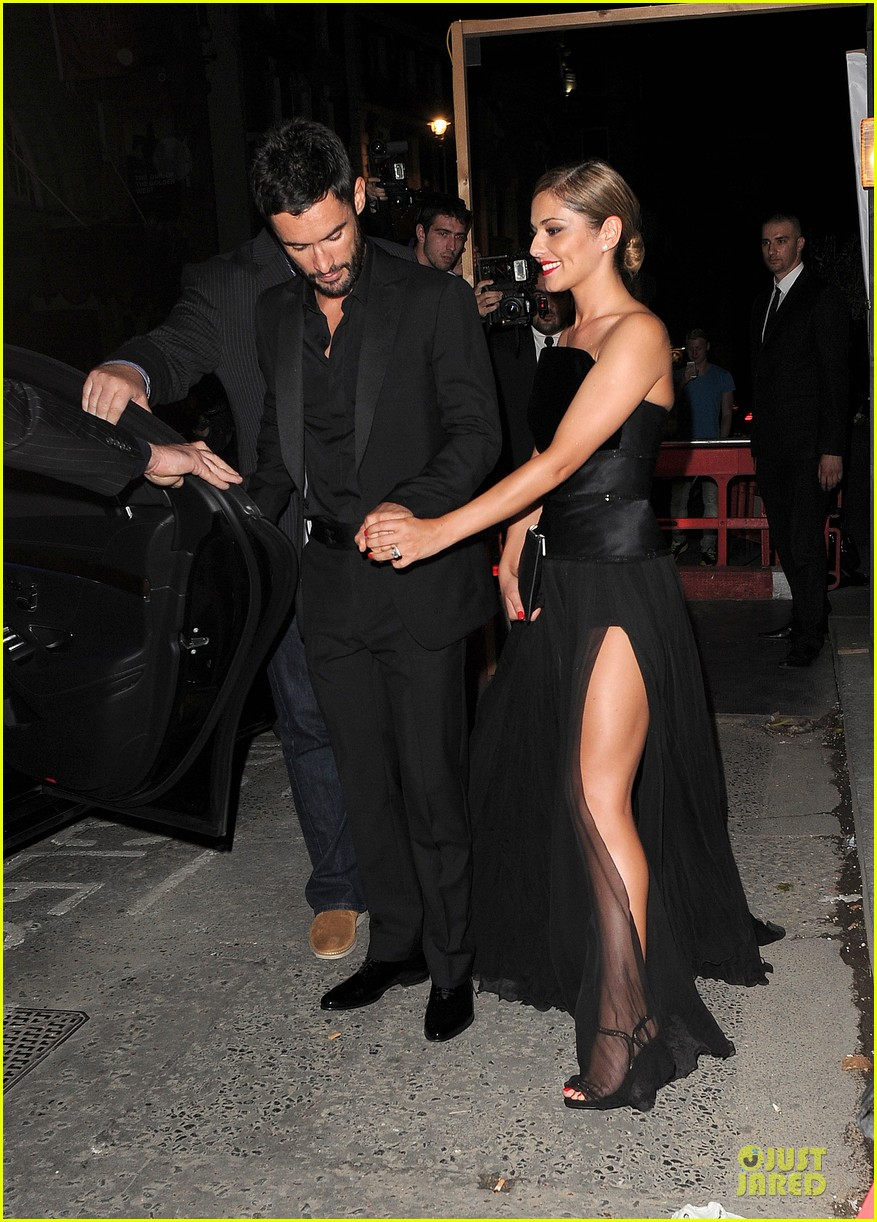 cheryl cole husband jean bernard match in black for wedding party 073161417
