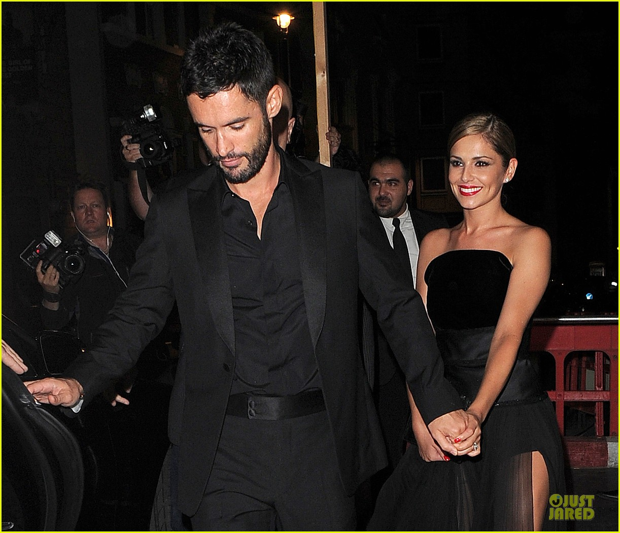 cheryl cole husband jean bernard match in black for wedding party 143161424