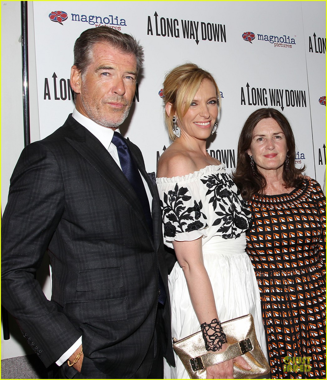 toni collette pierce brosnan long way down premiere 043147345
