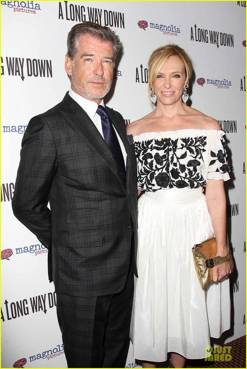 toni collette pierce brosnan long way down premiere 123147353