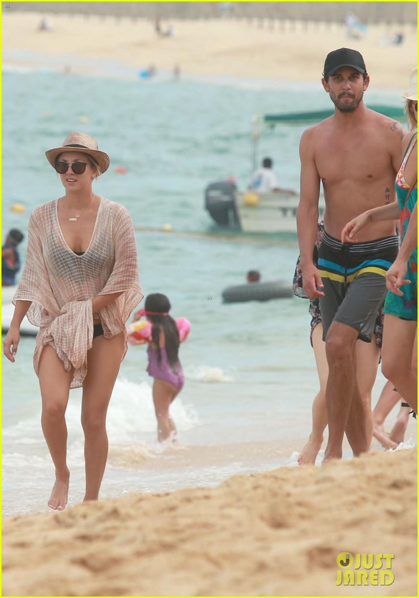 kaley cuoco covers bikini body with sheer wrap 053149963
