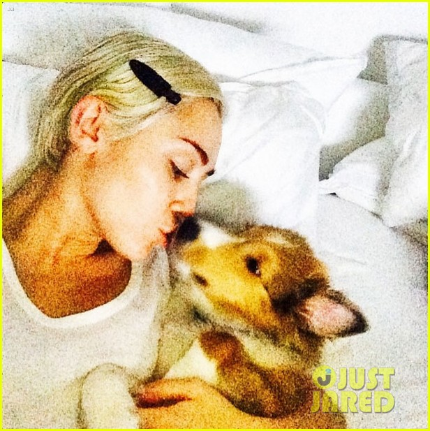 miley cyrus gets tattoo to honor dog floyd 073150347