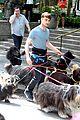 daniel radcliffe dog walker trainwreck nyc set 22