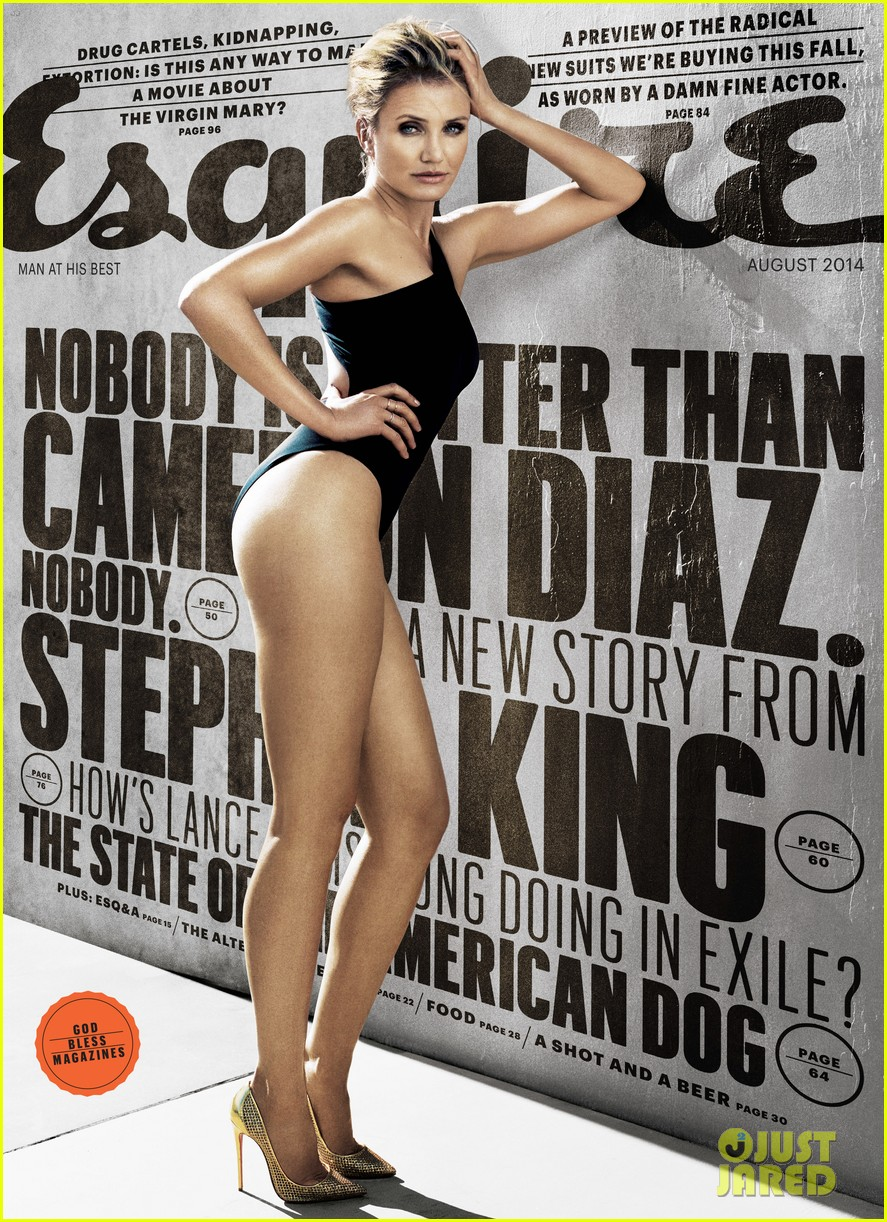 cameron diaz wears incredibly sexy leotard for esquire august 2014 023147639